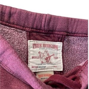 TRUE RELIGION cropped jogger track pants  sweatpants pink size small